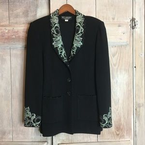 St John Evening Jacket Embroidered Sequined